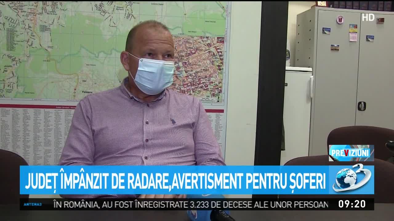 Județ din România împânzit de radare