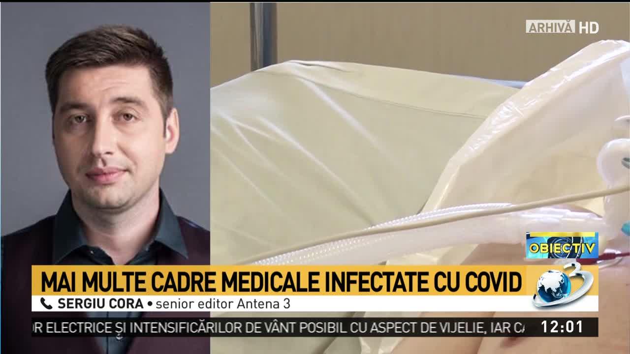 Mai multe cadre medicale infectate cu COVID