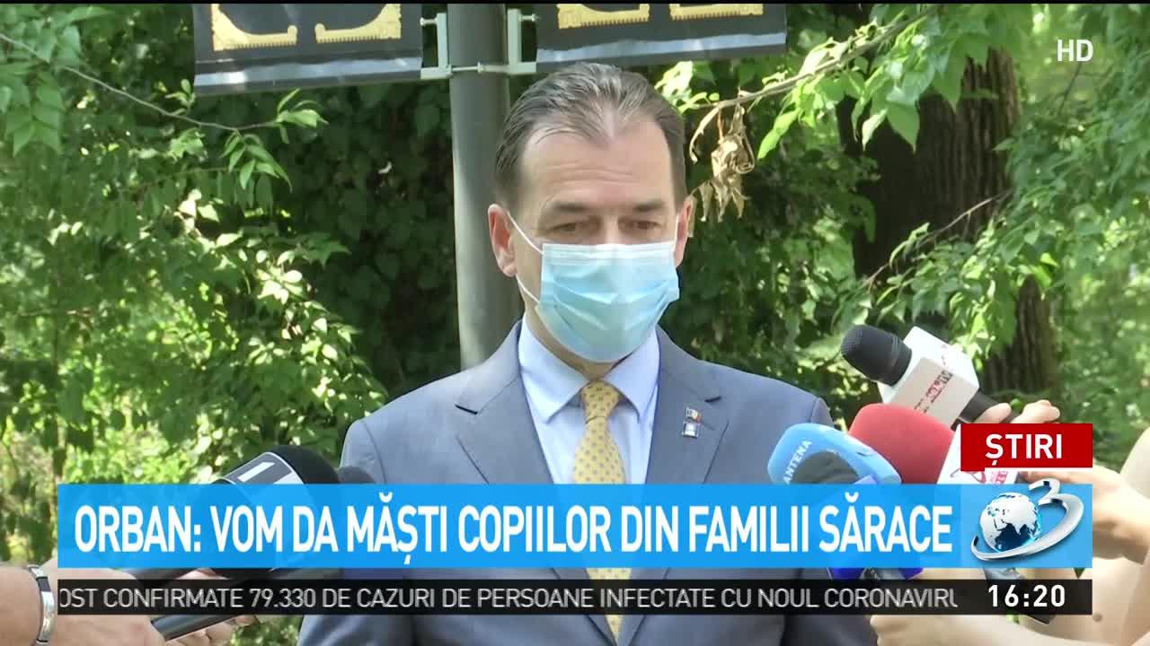 Orban: Vom da măşti copiilor din familii sărace