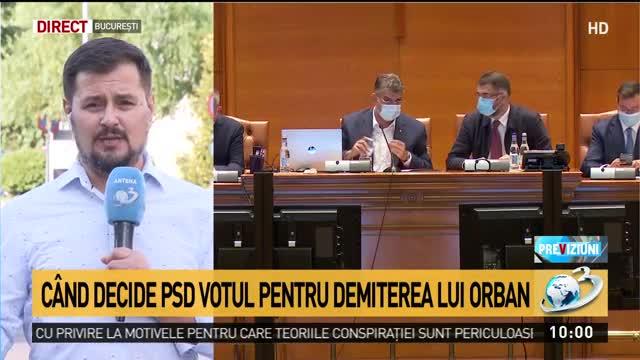 Moțiunea de cenzură împotriva Guvernului, ținută încă la sertar. Când decide PSD votul pentru demiterea lui Orban