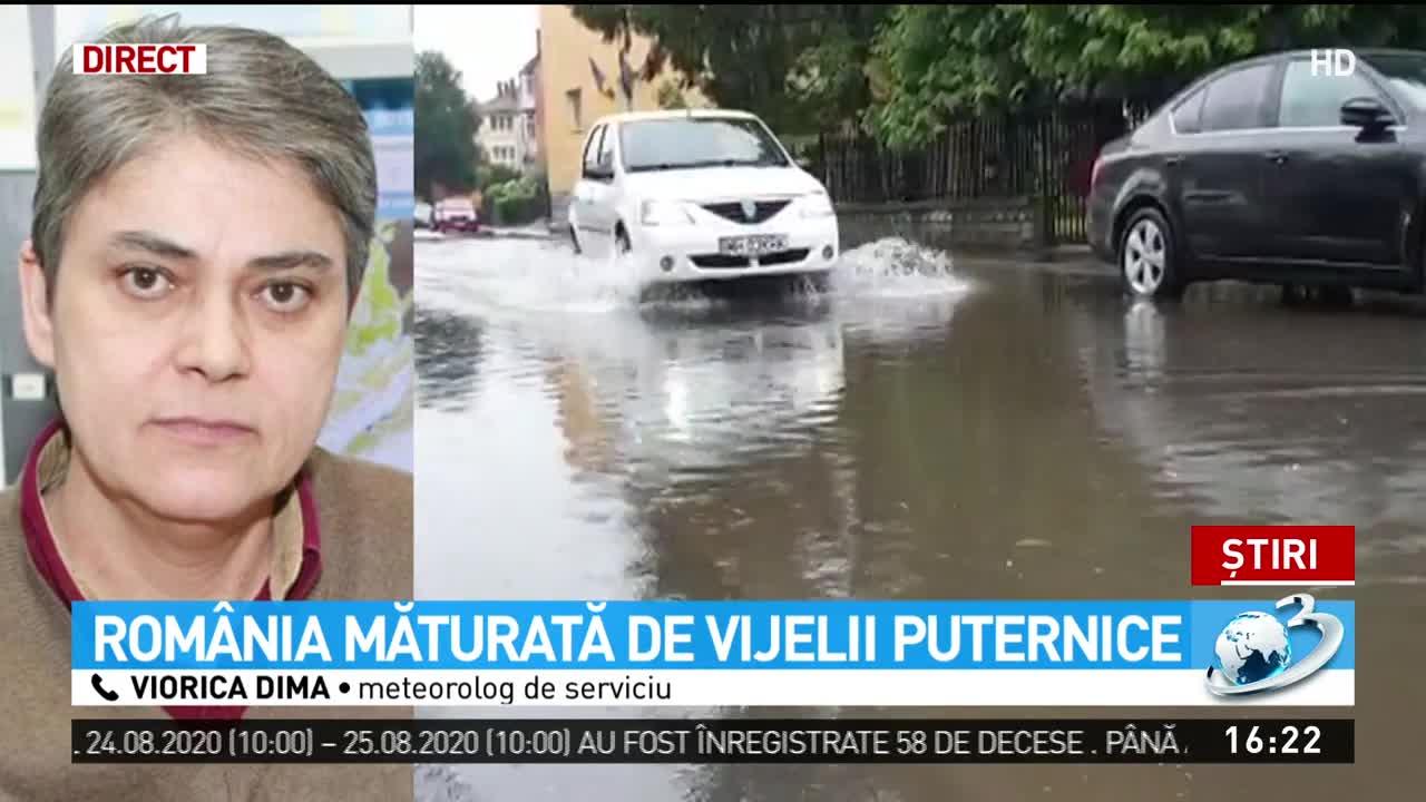 România măturată de vijelii puternice