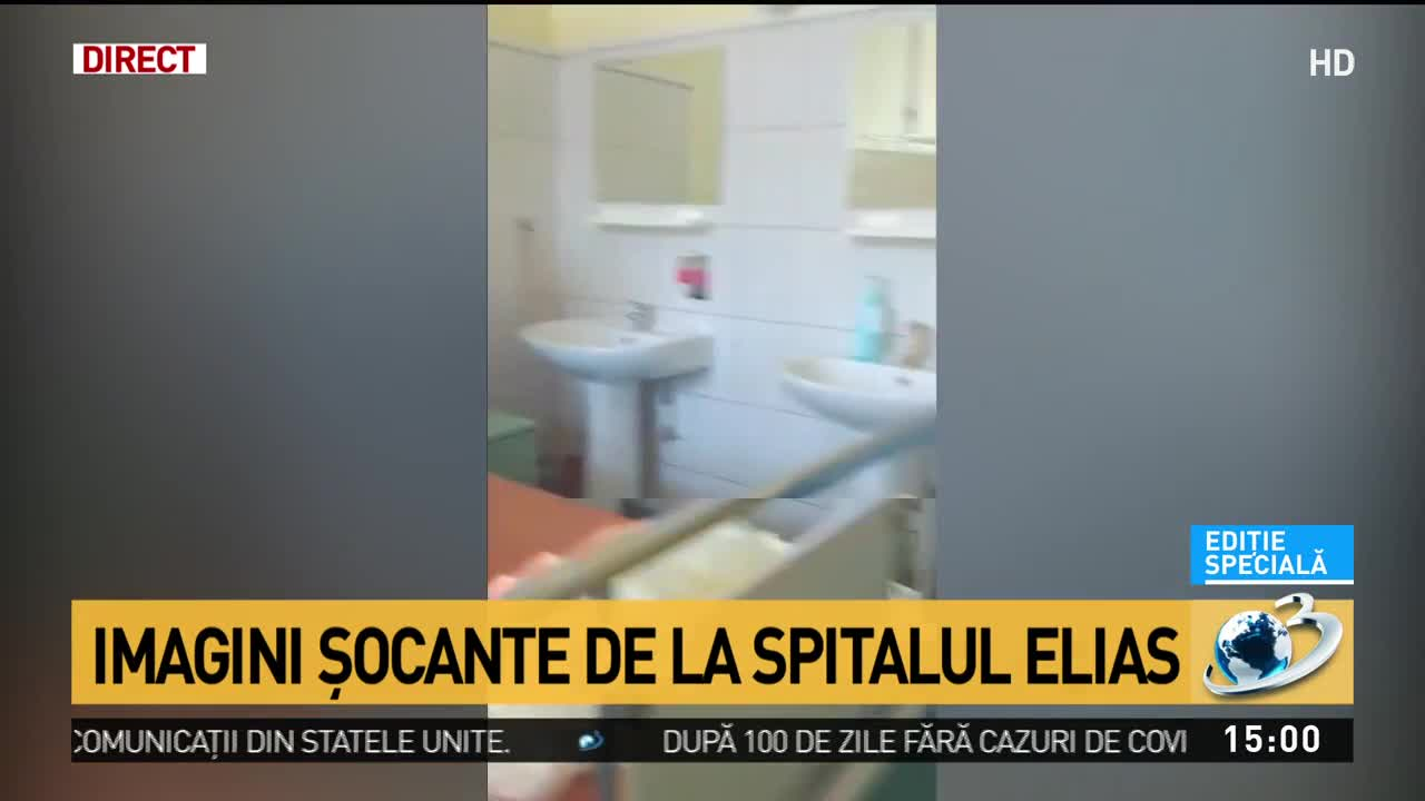 Imagini șocante de la Spitalul Elias