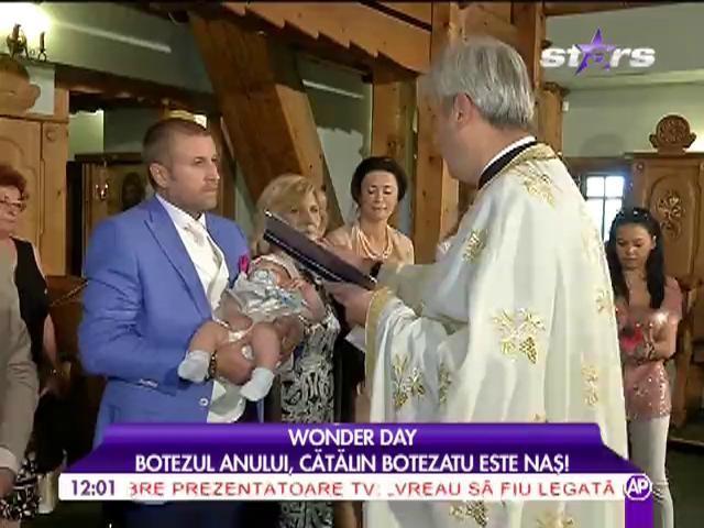 """Cătălin Botezatu, naș de botez: """"Am avut mari emoții!"""""""
