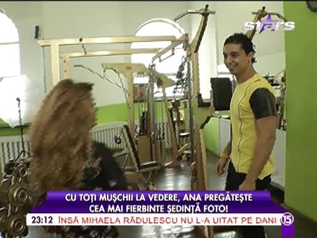 """Ana Mocanu, cea mai fierbinte ședință foto! Asistenta """"păcătoasă"""" și-a arătat toți mușchii"""