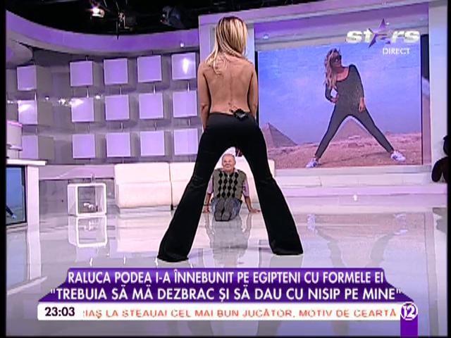 Raluca Podea, poză interpretabilă. Uite cu ce s-a fotografiat între picioare!