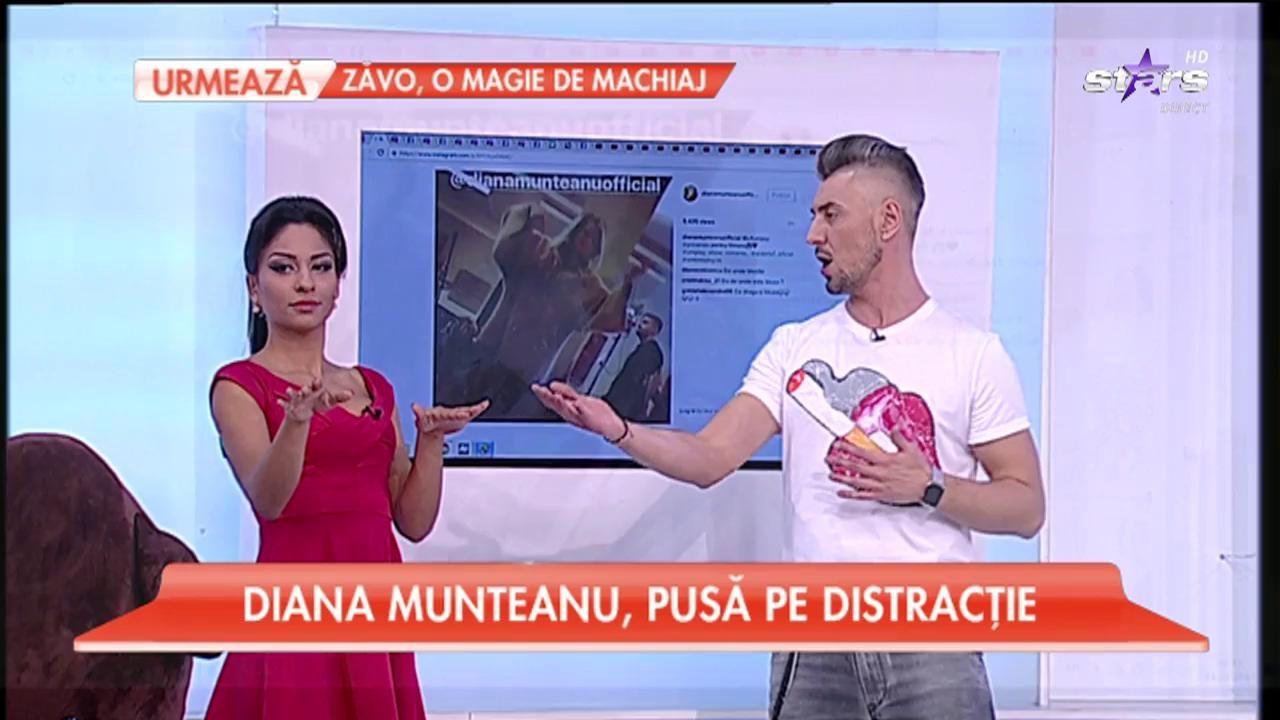 """Diana Munteanu, pusă pe distracţie! Prezentatoarea """"Uniplay"""" şi-a arătat talentul de dansatoare!"""