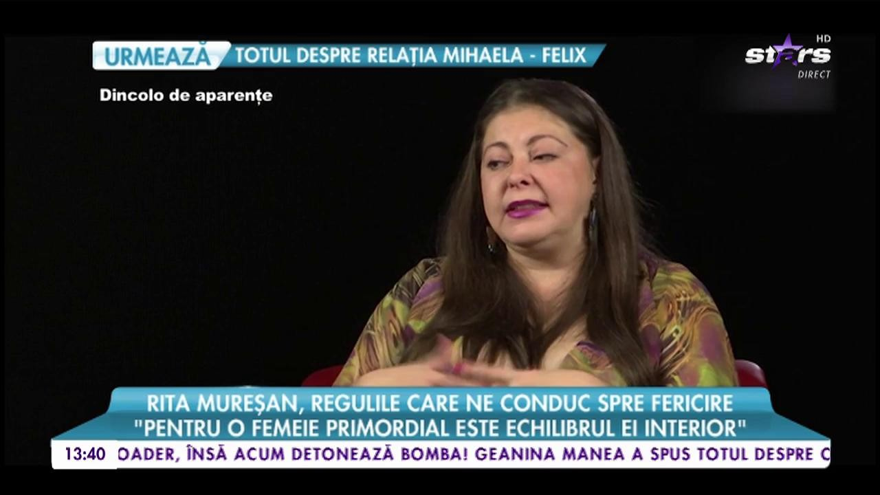 """Rita Mureşan, reguli care ne conduc spre fericire: """"E important să ne respectăm părinţii"""""""