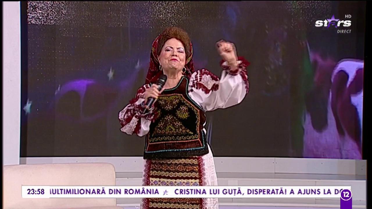 """Saveta Bogdan interpreteză una din celebrele sale piese, """"Am dragut, mama nu stie"""""""