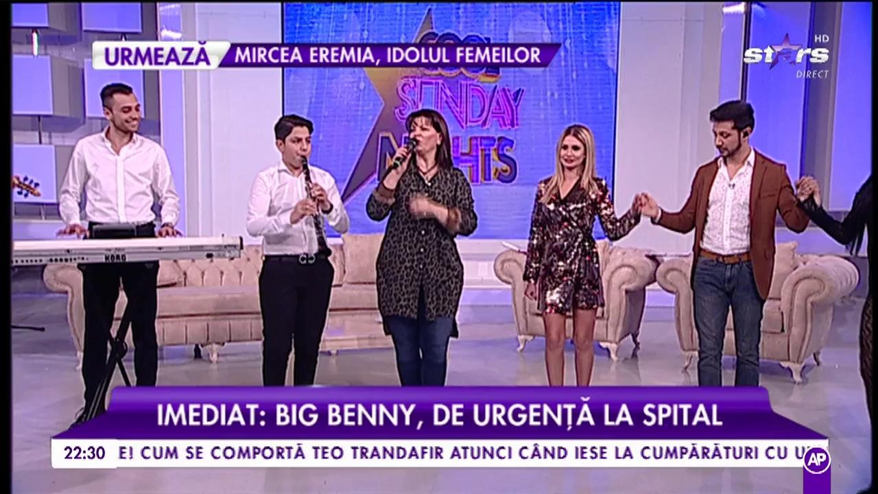 """Gina Matache cântă, în platoul """"Cool Sunday Nights"""", piesa """"Are mama"""""""