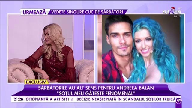 """Andreea Bălan: """"Soțul meu gătește fenomenal"""""""