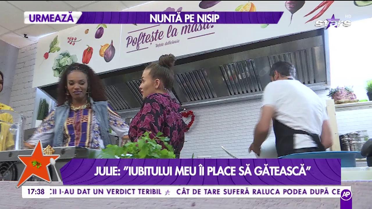 """Julie, despre mâncare și pofte; """"Dacă îți place mâncarea bună nu ai cum să nu știi să gătești"""""""