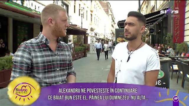 """Alexandru își dorește o femeie bogată lângă el: """"Să știe să producă bani"""""""