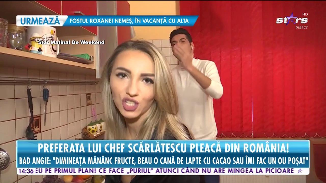 """Preferata lui Chef Scărlătescu pleacă din România! Bad Angie: """"Vreau să-mi deschid un restaurant cu specific românesc în Spania!"""""""