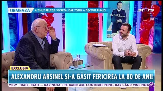 """Alexandru Arşinel, cele mai sincere dezvăluiri de Ziua Îndrăgostiţilor! """"Soţia mea are de zece ori mai mult optimism decât mine"""""""