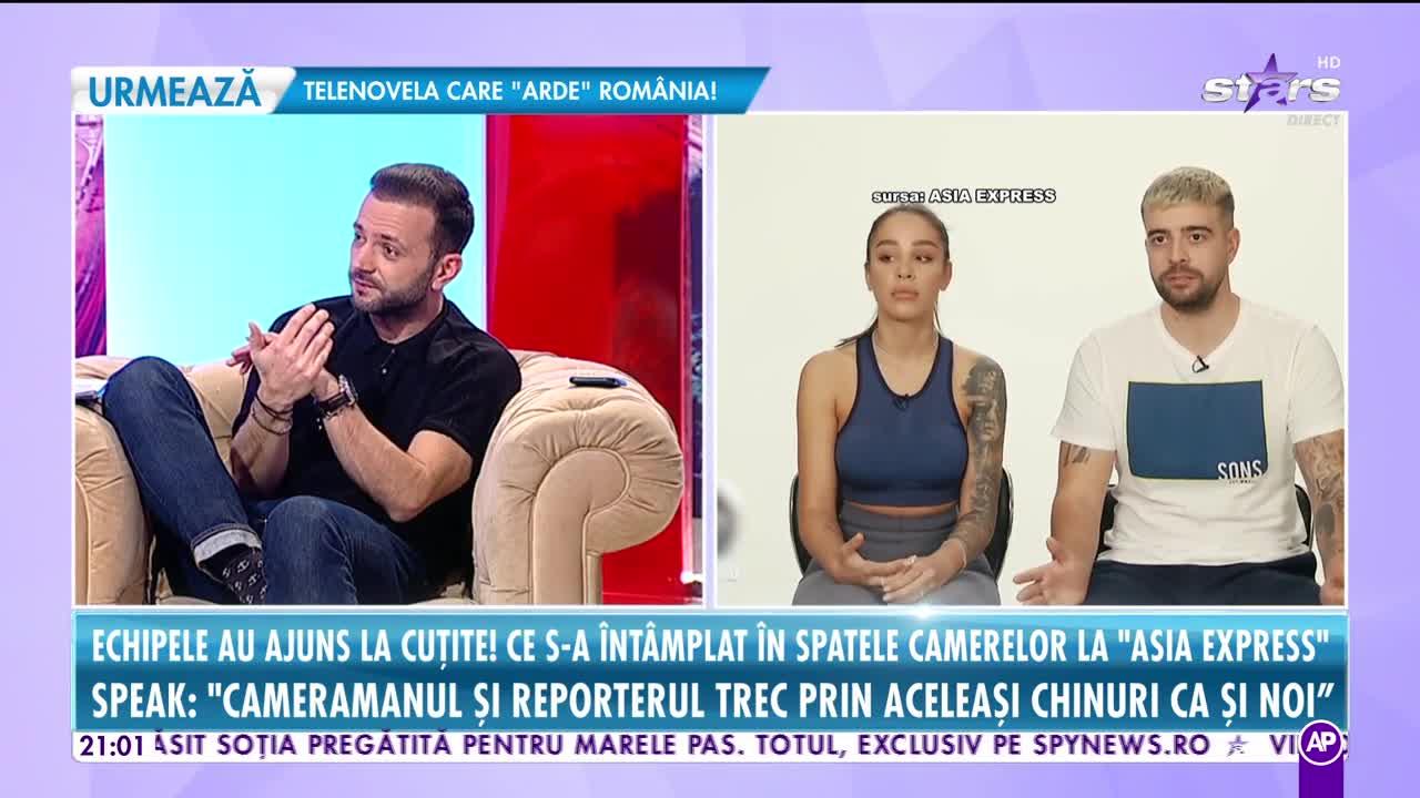 Rai da buni. Speak și Ștefania, primele conflicte! Cine le pune bețe în roate la Asia Express: Eu voiam acasă din prima zi!