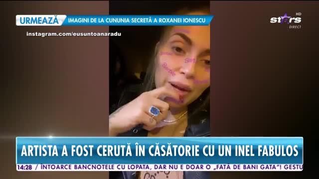 """Oana Radu a fost cerută în căsătorie! """"Aș fi fost fericită și dacă mă cerea în căsătorie cu inelul de la pufuleți cu surprize."""""""