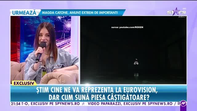 Roxen, reprezentanta României la Eurovision, în platoul Rai da buni
