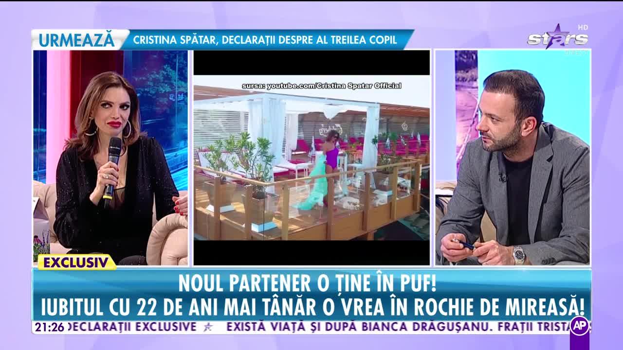 Rai da Buni. Cristina Spătar, ținută în puf de noul partener. Iubitul cu 22 de ani mai tânăr i-a readus zâmbetul pe buze