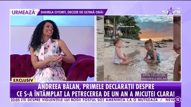 Andreea Bălan, primele declaraţii despre ce s-a întâmplat la petrecerea de un an a fetiței sale