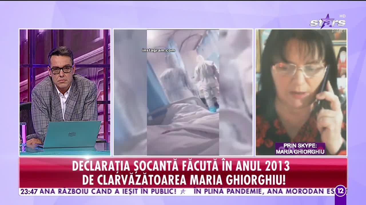 Declarația șocantă făcută în anul 2013 de clarvăzătoarea Maria Ghiorghiu: Un virus necunoscut până acum, dar foarte puternic, va face ravagii printre oameni!