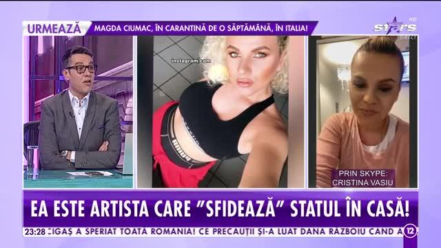 Ce soluție a găsit Cristina Vasiu ca să scape de plicitiseală