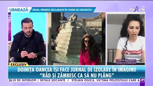 Doinița Oancea își face jurnal de izolare în imagini: Râd și zâmbesc ca să nu plâng