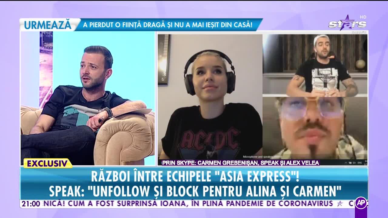 """Echipele """"Asia Express"""" dau cărțile pe față! Cât e prietenie, cât rivalitate? Speak: """"Unfollow și block pentru Alina și Carmen"""""""