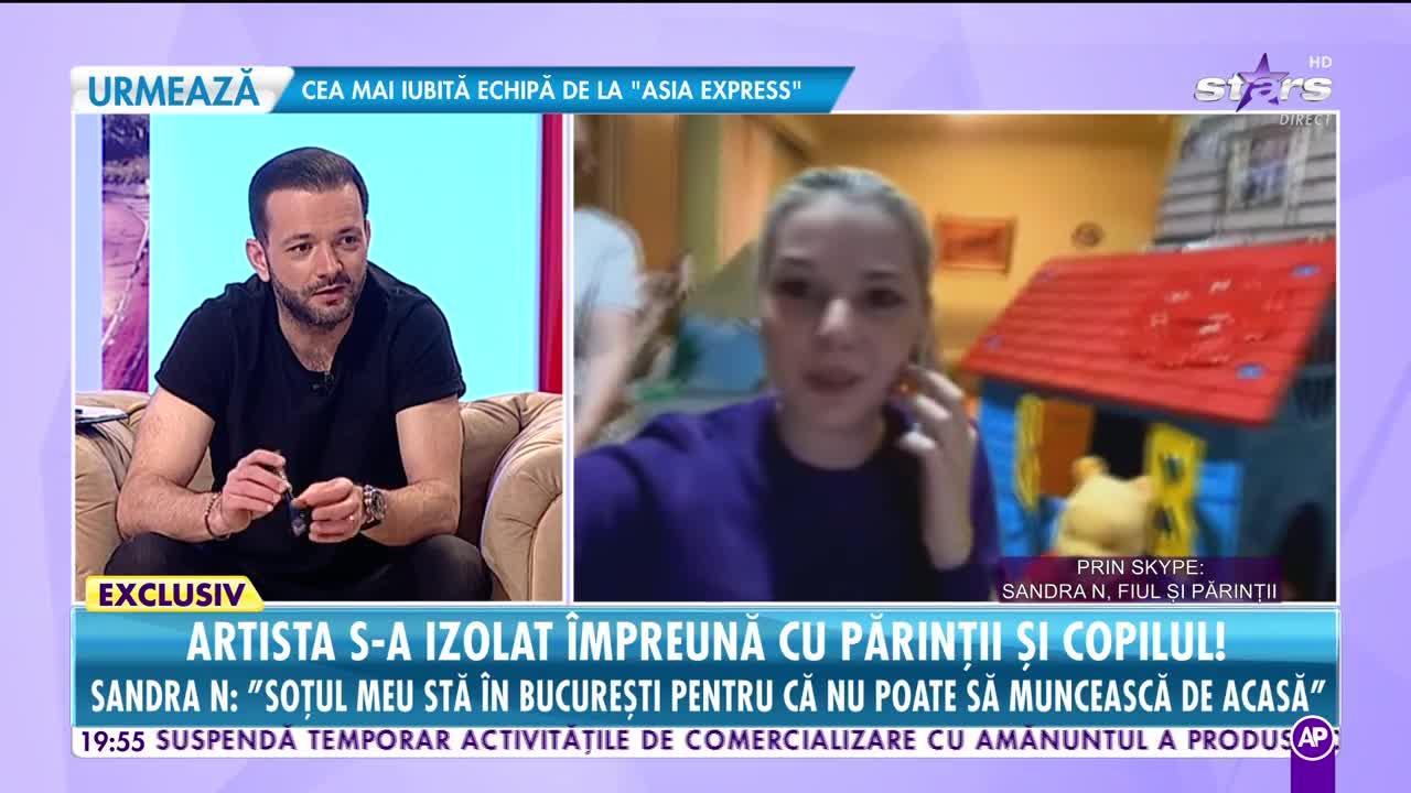 """Sandra N s-a izolat împreună cu părinţii şi copilul! """"Soţul meu a rămas în Bucureşti pentru că nu poate lucra de acasă"""""""