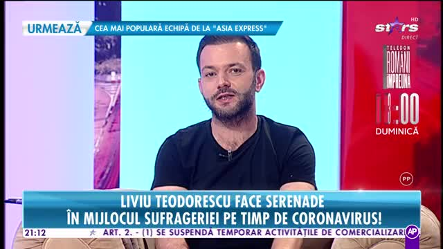 Liviu Teodorescu face serenade în mijlocul sufrageriei pe timp de coronavirus!