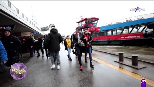 Anamaria Prodan a îngheţat de frig la plimbare cu vaporul în Hamburg!