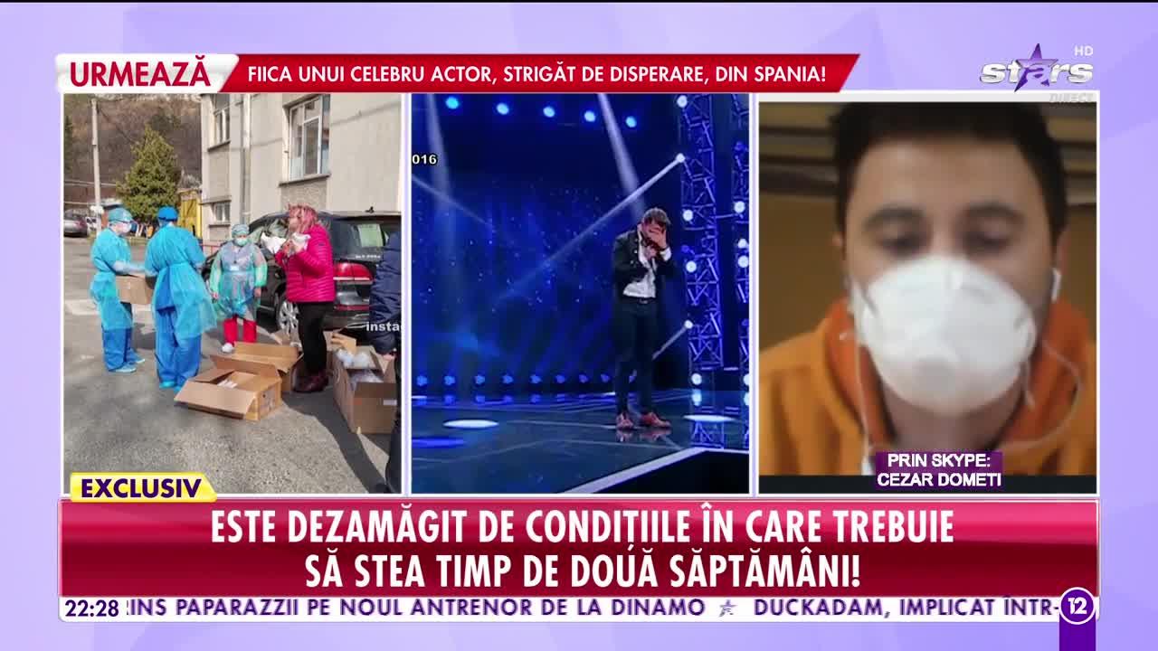 Cezar Dometi, fost concurent de la X Factor, în carantină instituţionalizată