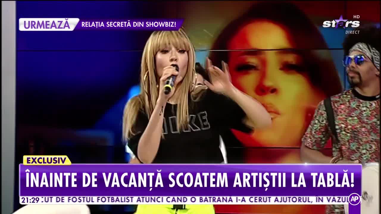 """Trupa Mandinga cântă, în platoul Showbiz Report, melodia """"Celosa"""""""