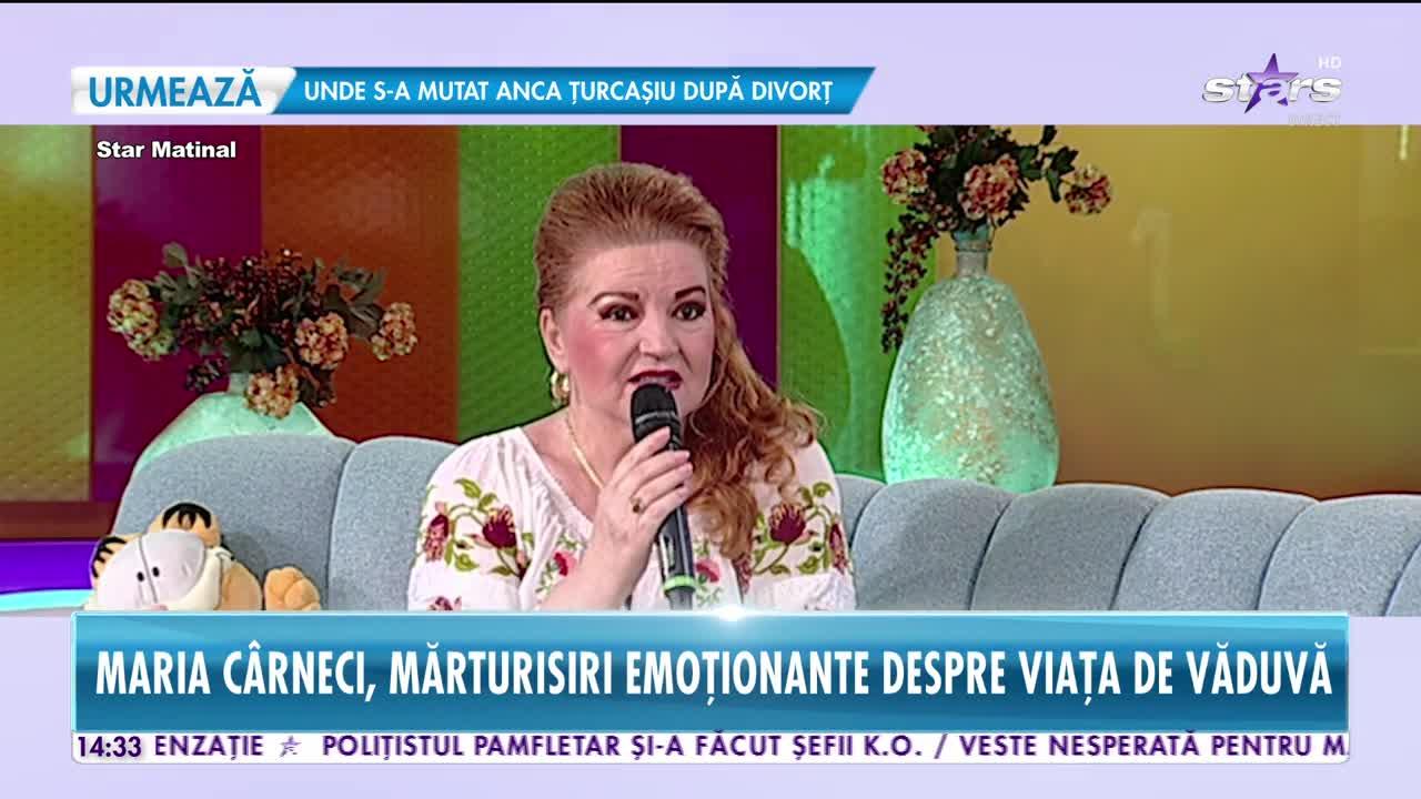 Maria Cârneci, mărturisiri emoționante despre viața de văduvă
