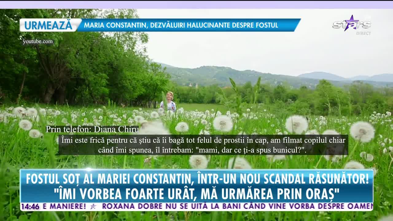 """Fostul soţ al Mariei Constantin, într-un nou scandal răsunător: """"Mă înjura când mergeam la grădiniță la copil"""""""