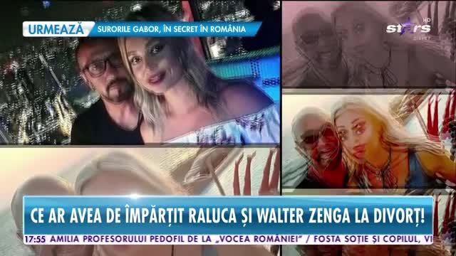 Ce ar avea de împărțit Raluca de Walter Zenga la divorț