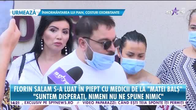 Florin Salam s-a luat în piept cum medicii de la Matei Bals: Suntem disperati, nimeni nu ne spune nimic