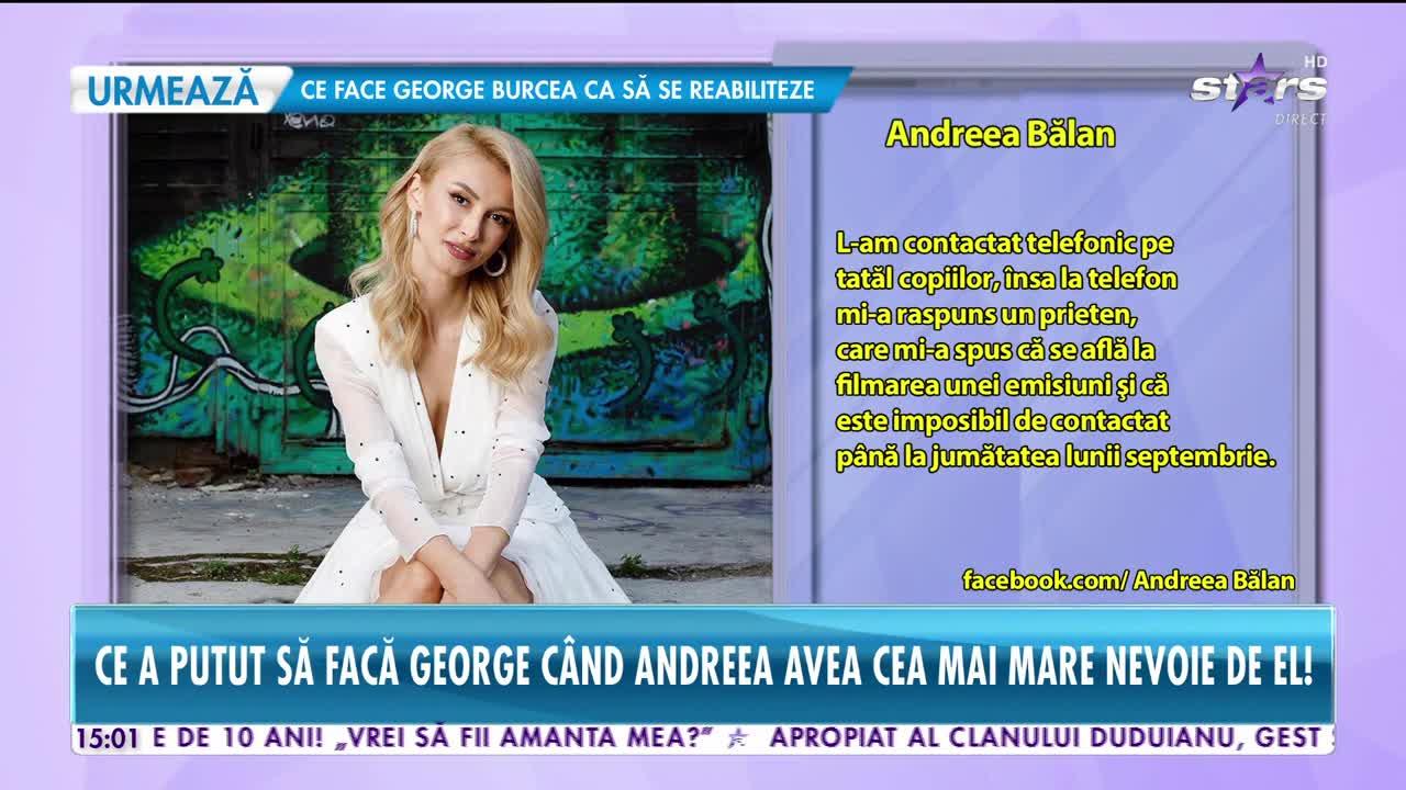 Andreea Bălan, declaraţii uluitoare despre comportamentul fostului ei soţ!