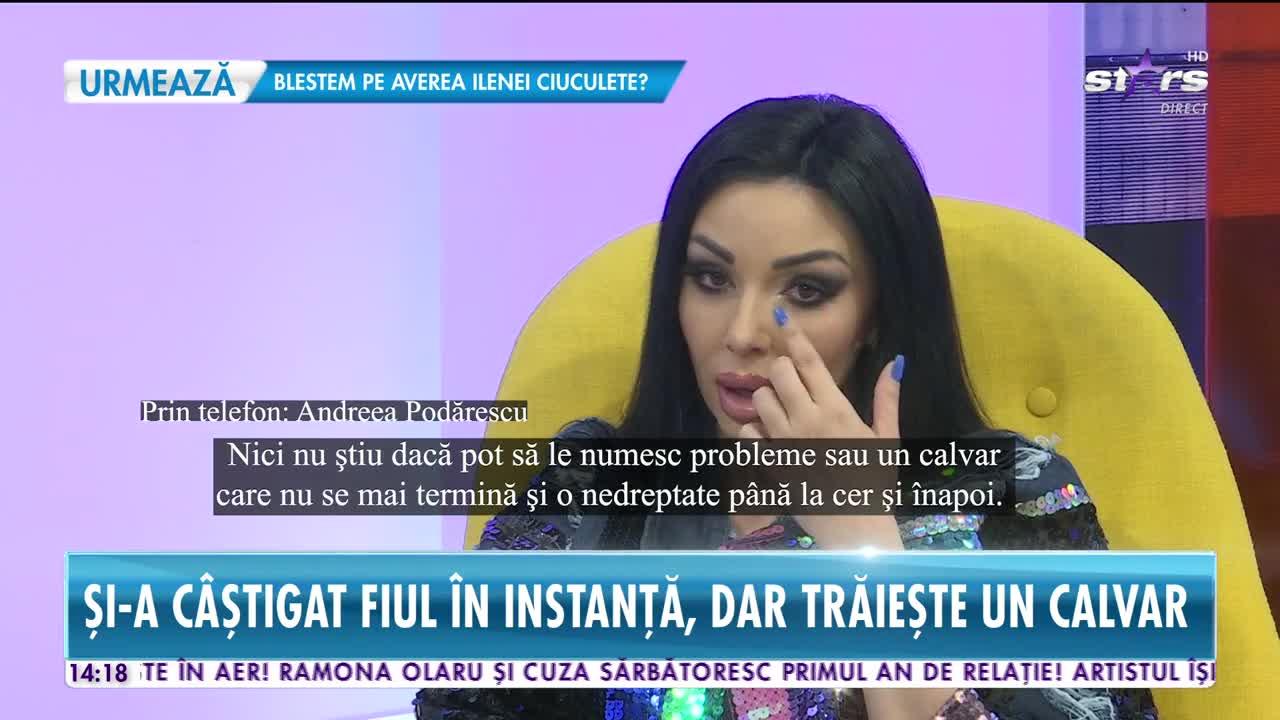 Andreea Podărescu tună şi fulgeră şi sare, din nou, la gâtul tatălui copilului ei!