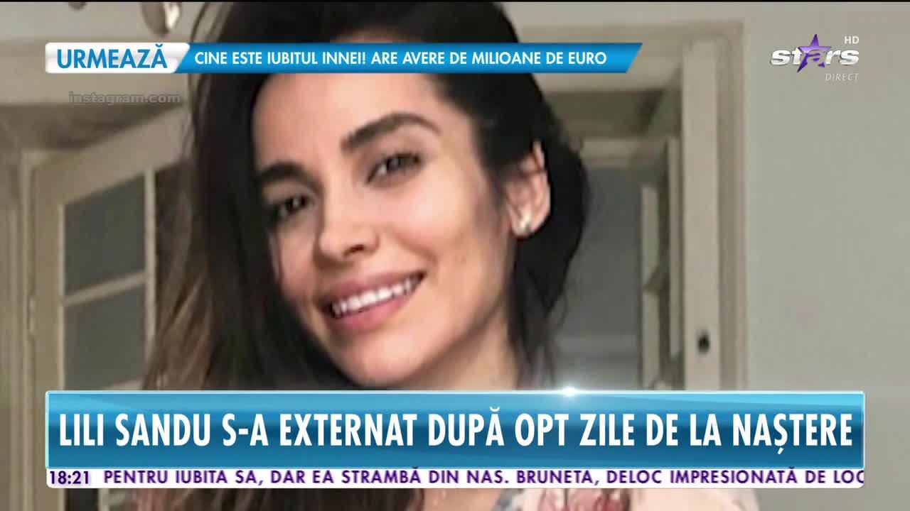Lili Sandu s-a externat după opt zile de la naștere