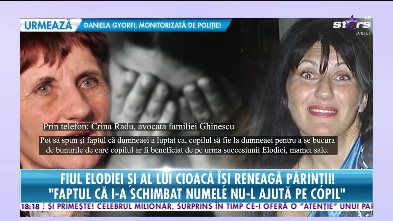Fiul Elodiei Ghinescu şi al lui Cristian Cioacă îşi reneagă părinţii