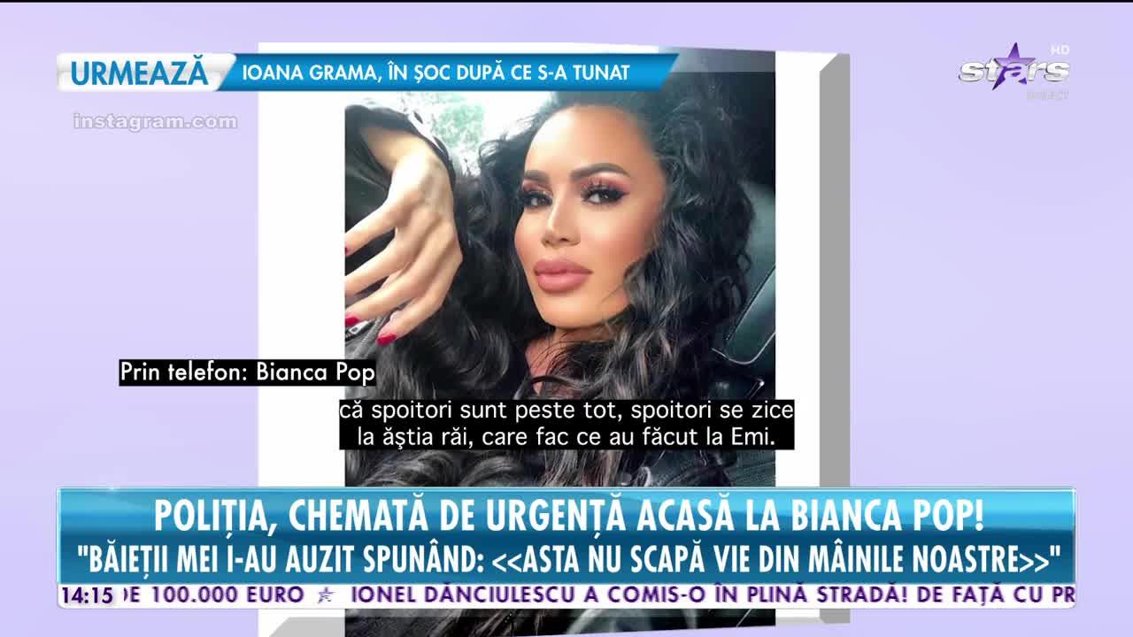 Poliţia a fost chemată de urgenţă acasă la Bianca Pop