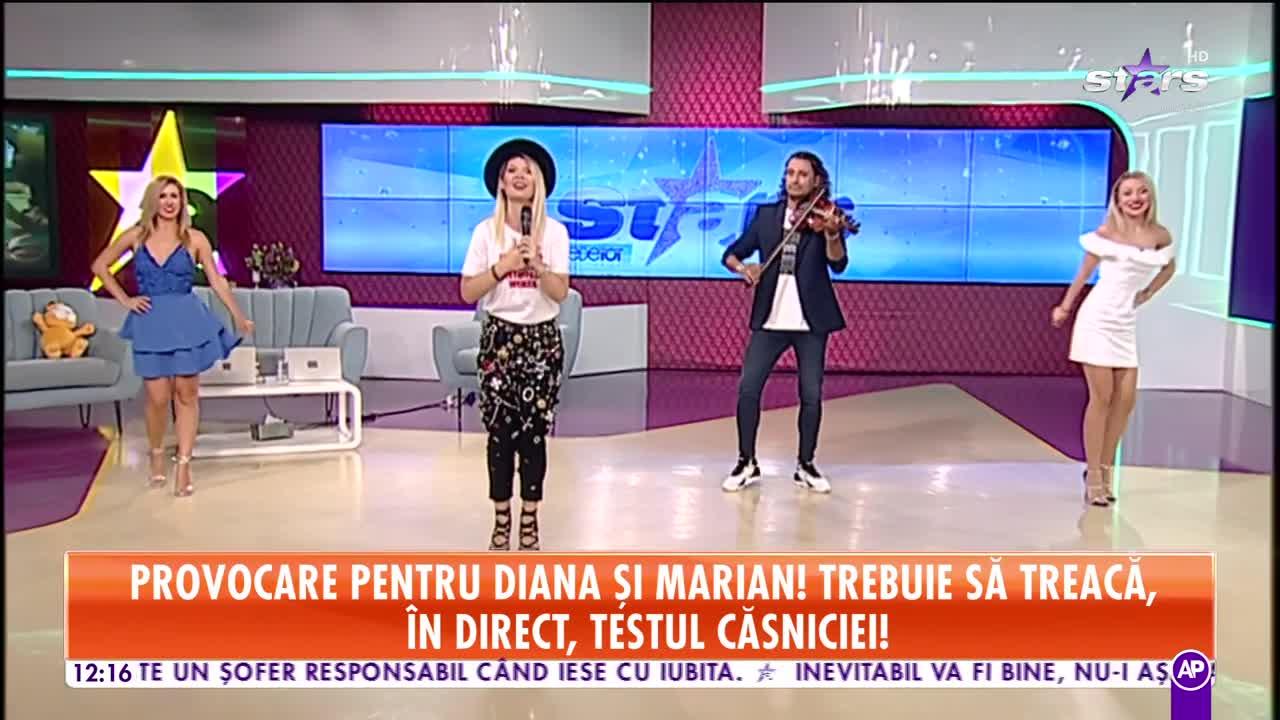 Diana Matei și Marian Cleante cântă melodia Hai vino de mă fură, la Stars Matinal